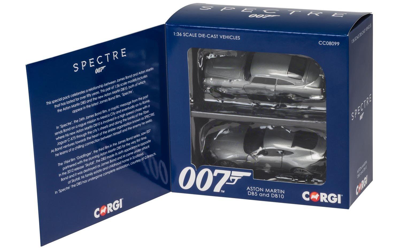 "Hornby Corgi ""James Bond Aston Martin Spectre"" Auto, 2 Stück, Silber 2 Stück CC08099"