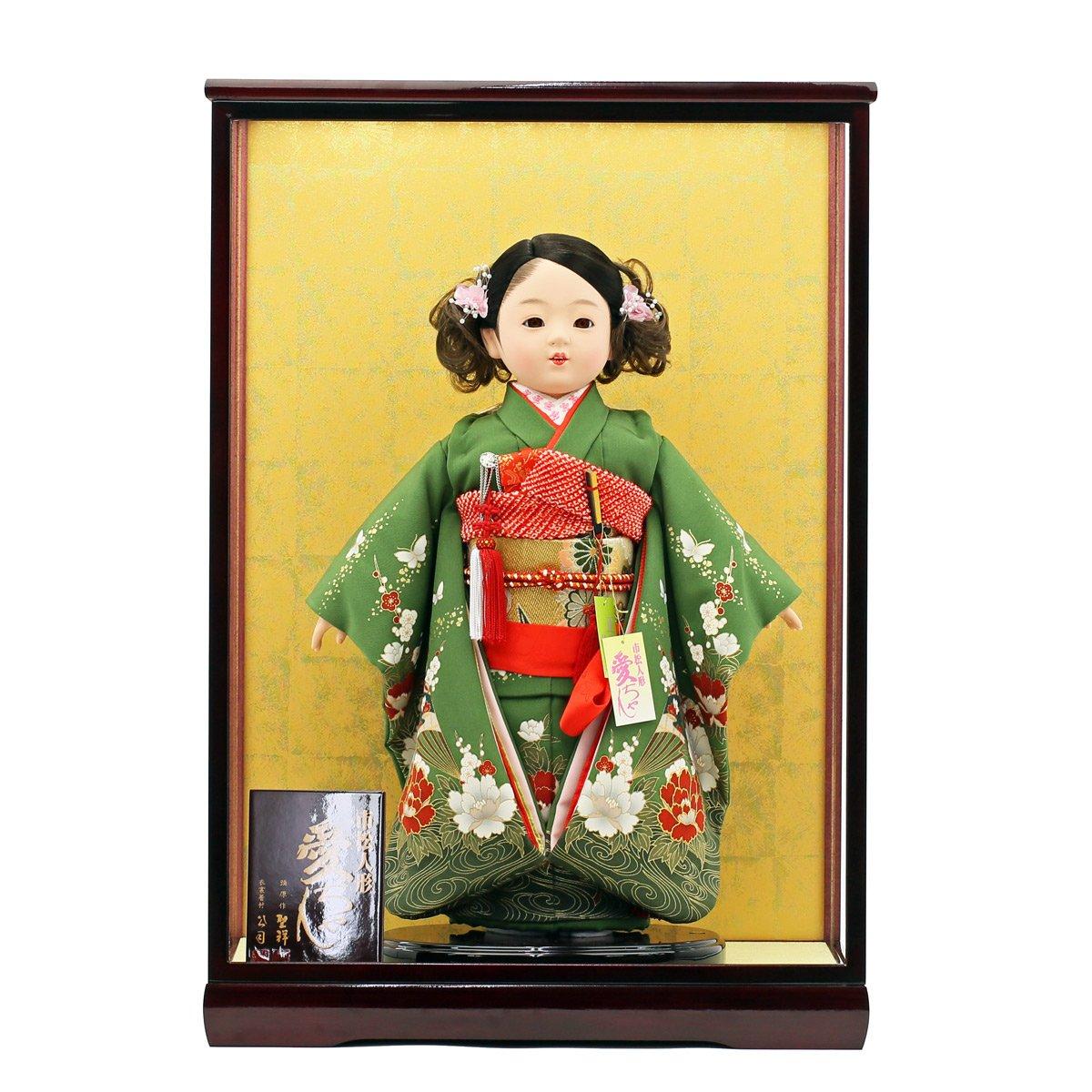 人形工房天祥 雛人形 市松人形 ケース飾り 限定オリジナル 公司作 「お出迎え人形 市松人形13号 ケース入り」 横幅42×奥行31×高さ60(cm)   B00TGHVIF4