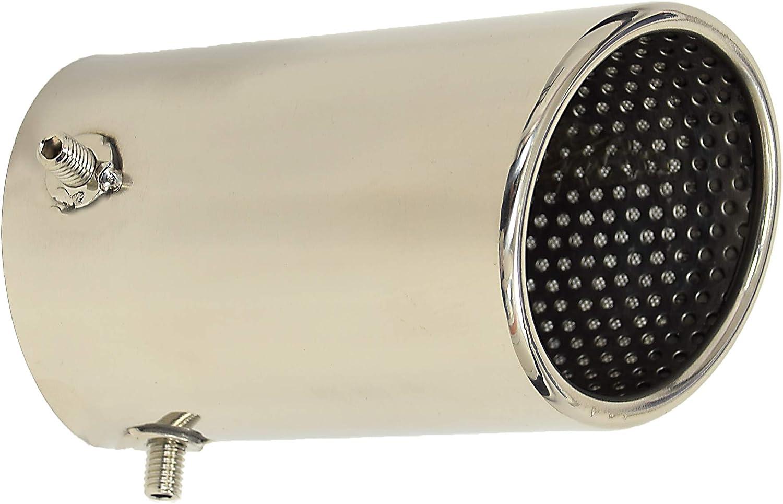 RDi 56841-74 DoradoTuning Embout de silencieux d/échappement de voiture//tuyau d/échappement//acier inoxydable Chrome queue gorge//tuyau pointe silencieux arri/ère universel 74mm