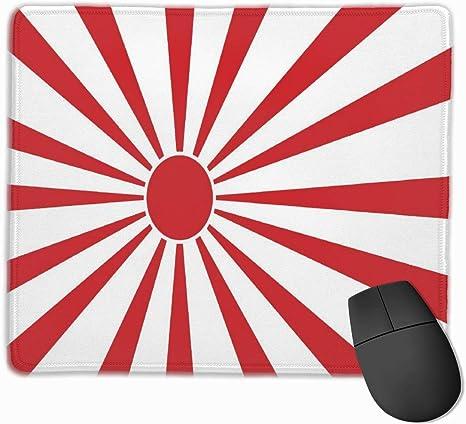 Alfombrilla de ratón Bandera de Sol Naciente japonés Base de Goma ...