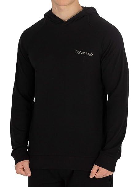 Calvin Klein Hombre Sudadera con Capucha, Negro: Amazon.es: Ropa y accesorios