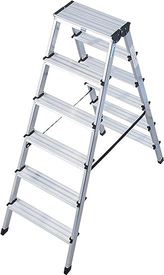 Krause – Escalera doble dopplo, 1 pieza, 2 x 6 peldaños, 120359: Amazon.es: Bricolaje y herramientas