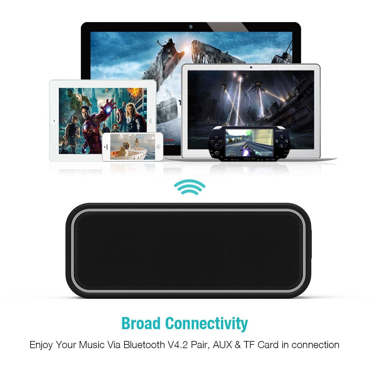 Bassi Estremi con Suono Stereo Compatibile con Android Altoparlante Bluetooth Wireless Portatile Durata Batteria 12 ore e Tavoletta Driver doppio EC Technology Altoparlante Bluetooth 40W IPX7