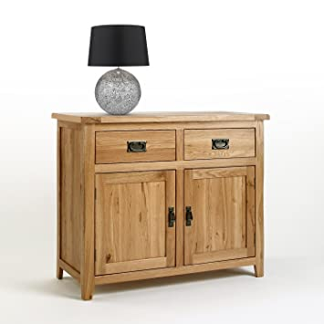 Cotswold Solid Oak Small Sideboard Cabinet,(100 X 83 X 42 Cm)