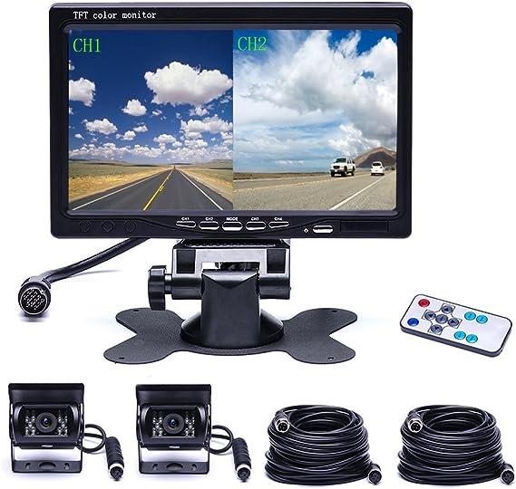 12V-24V 4-Pin Reversing Camera 4IR 175/° IP68 for Motorhome//Transporter//Lorry//Trailer//Caravan