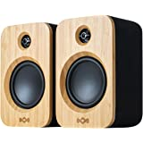 House of Marley Get Together Duo, Powerful Bookshelf Speakers with Wireless Bluetooth Connectivity and Sustainable Materials