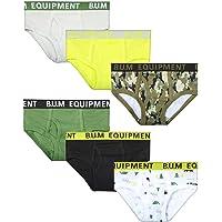 B.U.M. Equipment 学步儿童和男童内裤 6 条装,纯色和印花
