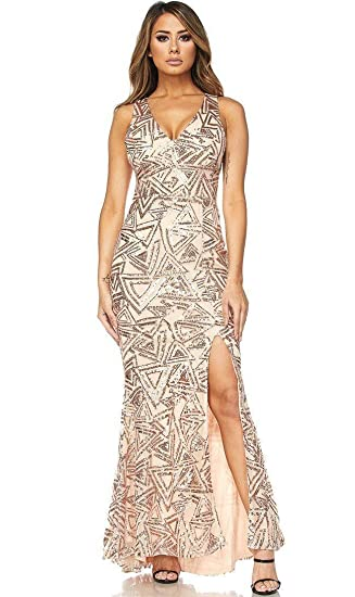 5895e892e331b Image Unavailable. Image not available for. Color: Triangular Mermaid Tail  Maxi Dress ...