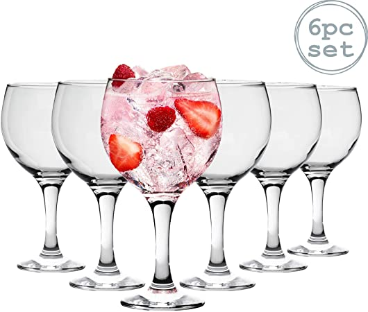 Españoles Gin Tonic cócteles Vasos - 645ml (22,7 oz) Pack de 6 Globo Glasses: Amazon.es: Hogar