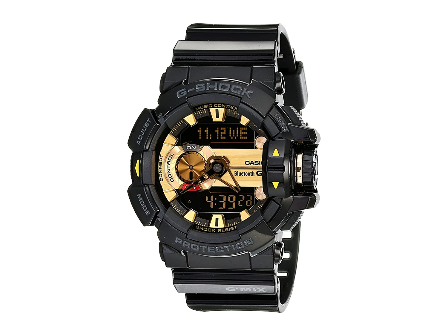 online retailer 12460 ea48c Casio G-Shock Men's GBA400 G'Mix Rotary Switch BLE Watch, Black/Gold, One  Size