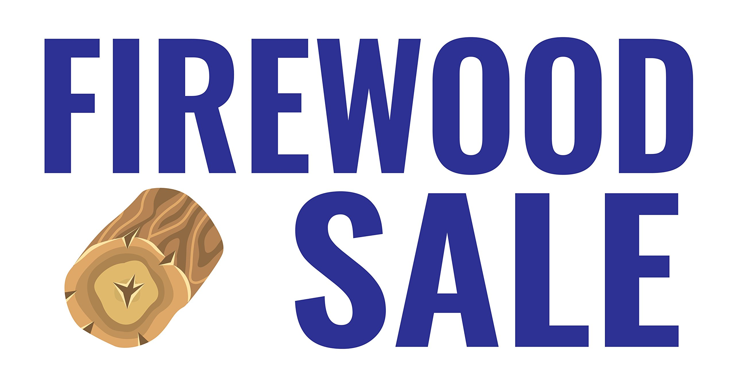 Pre-Printed Firewood Sale - Blue (10' x 5') by Reliable Banner Sign Supply & Printing