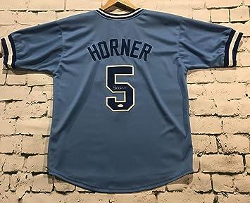 online retailer f9ab0 bc3b7 Bob Horner Signed Autographed Atlanta Braves Throwback ...