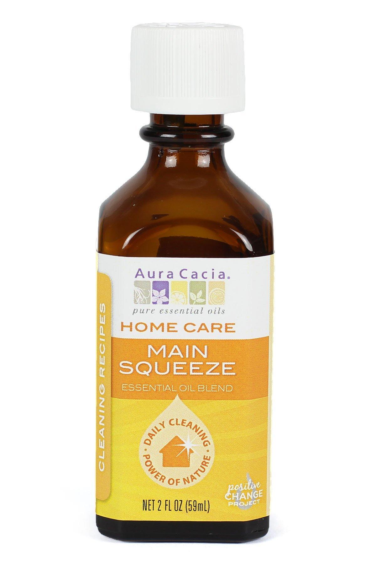 Aura Cacia Main Squeeze Essential Oil Blend for Home Care, 2 Fluid Ounce