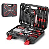 158-Piece Home Repair Tool Set, EASTVOLT General Household Hand Tool Kit,Auto Repair Tool Set, with Storage Tool Box, EVHT15801