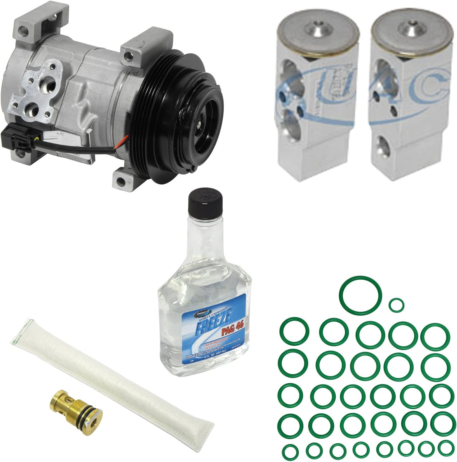 A//C Compressor /& Component Kit-Compressor Replacement Kit UAC KT 3777