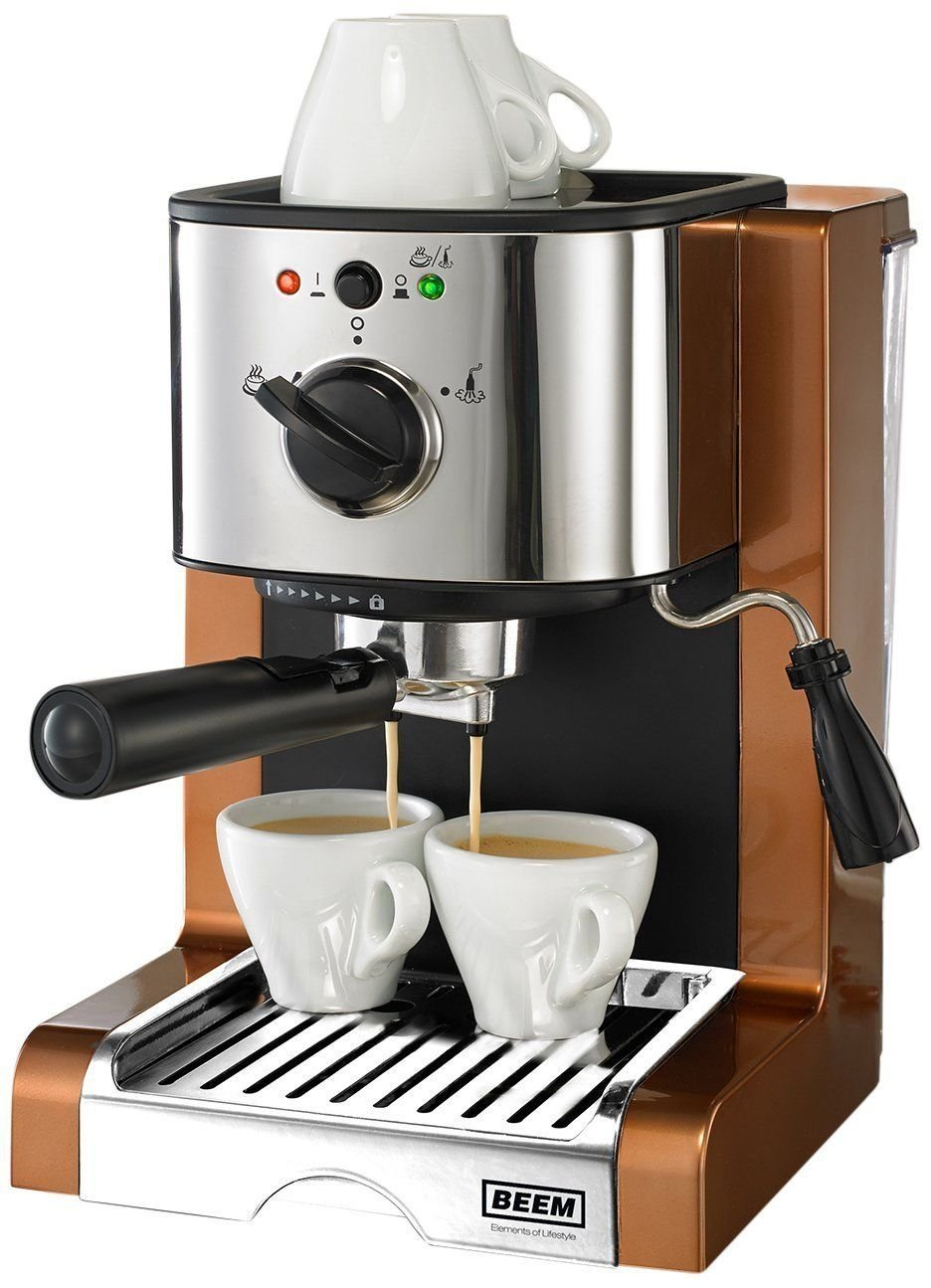 BEEM Germany Espresso Perfect Crema Plus Copper Style - Cafetera ...