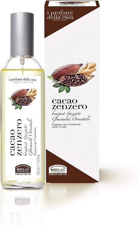 Helan I Profumi della Casa Cacao Zenzero Fragranza per l'Ambiente Spray 100 mL