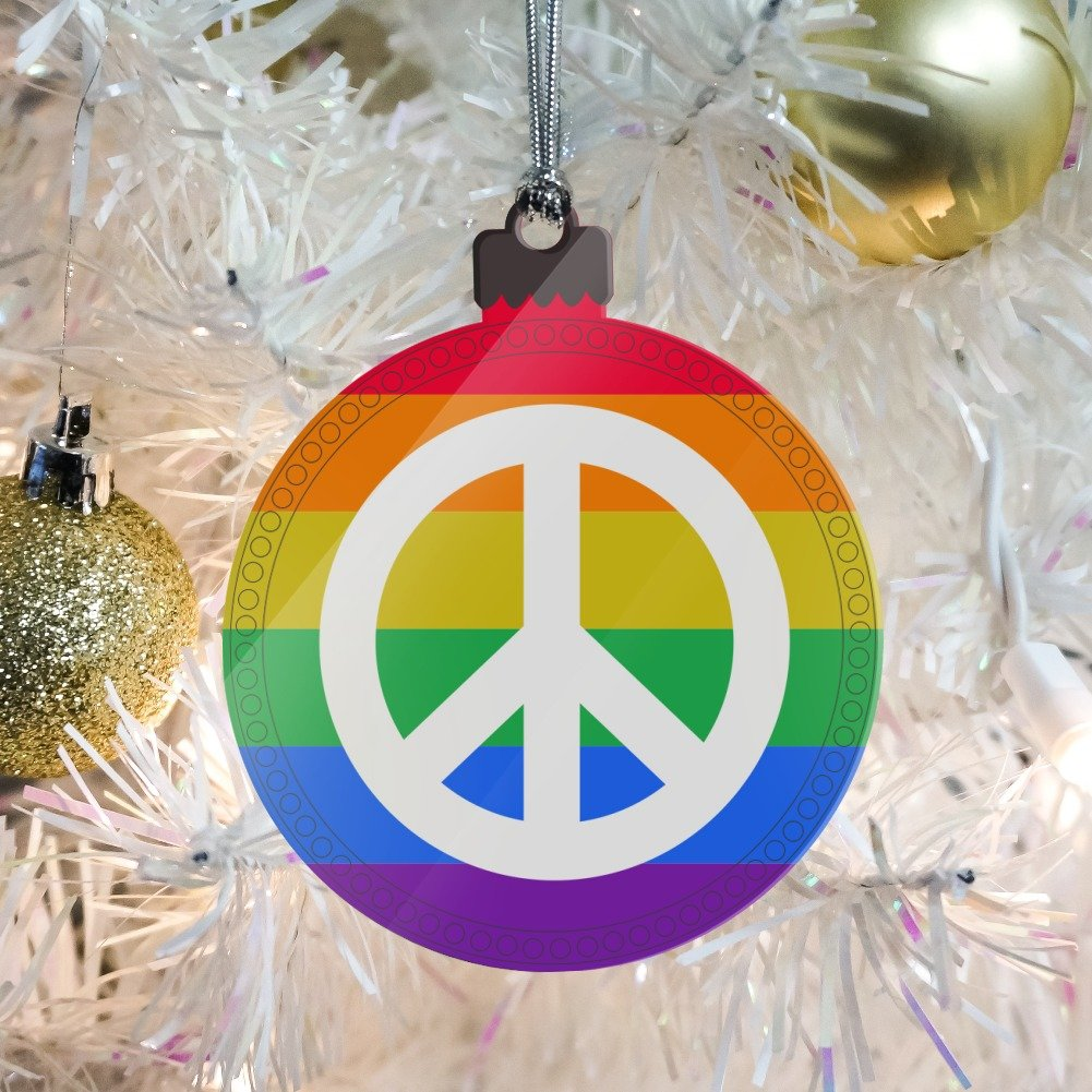 Amazon Peace Rainbow Lgbtq Symbol Acrylic Christmas Tree