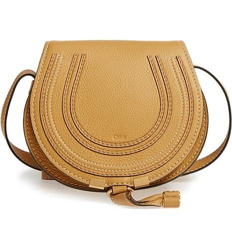 Chloé  Mini Marcie  Leather Crossbody Bag Dusty Yellow  Amazon.ca  Shoes    Handbags e2b1eb372b