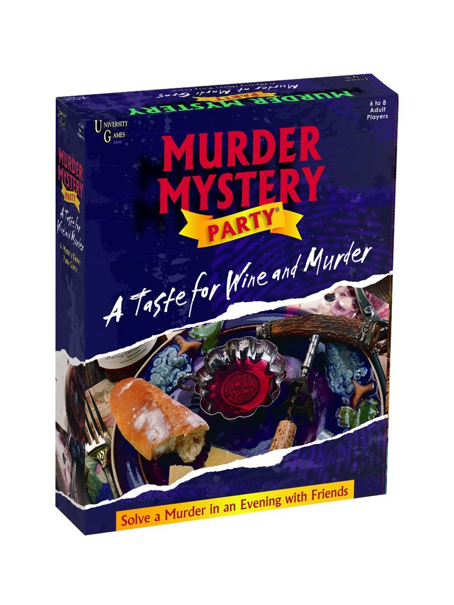 MURDER MYSTERY PARTY A TASTE FOR WINE AND MURDER by Brybelly University Games
