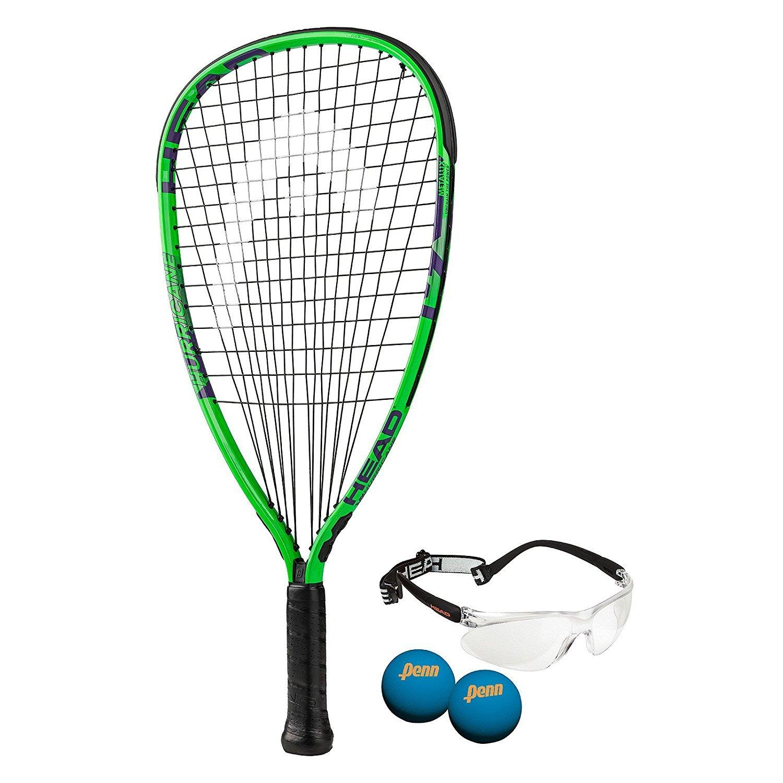 Head MX Hurricane Racquetball Pack, Strung, 3 5/8 inch Grip Head USA Inc. 223027SO5