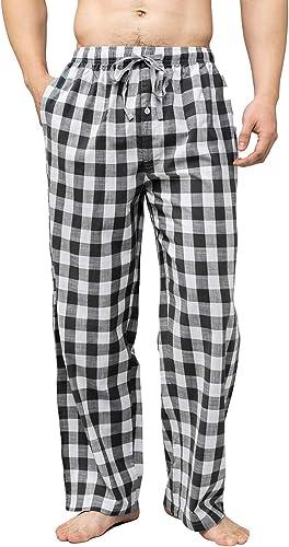 Bintangor Mens Sleep Pajama Pants 100/% Cotton Knit Elastic Waistband Lounge Wear Long