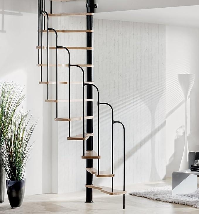 Treppen Intercon – Escaleras de caracol Skidoo 120 x 60 cm o 140 x 70 cm hasta 292 cm de altura de planta, blanco: Amazon.es: Bricolaje y herramientas
