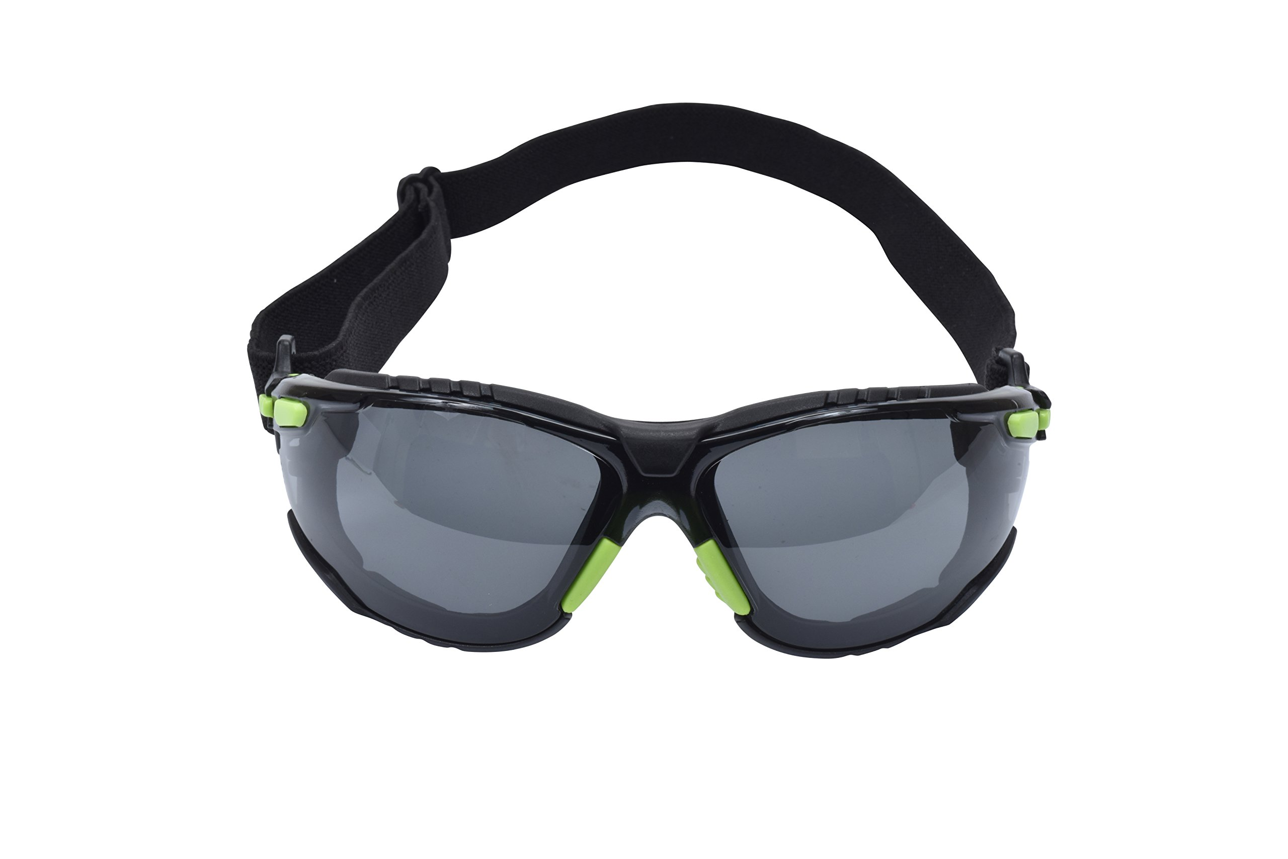 3M Solus 27363-case Protective Eyewear 1000 Series, S1202SGAF-SKT, Scotchgard Anti-Fog Lens, 5'' Height, 2'' Wide, 10'' Length, Polycarbonate/Plastic, One Size Fits Most, Green/Black/Clear (Pack of 20)