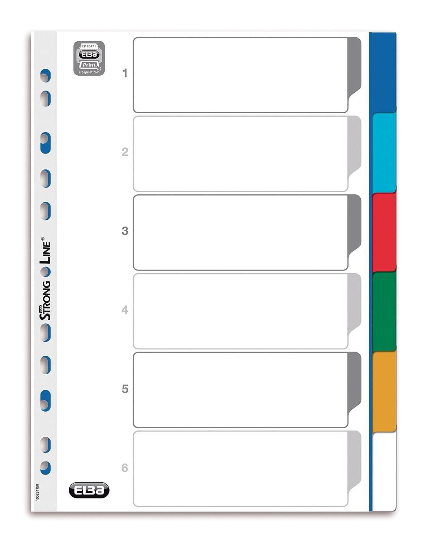 ELBA 400013952 Kunststoff-Register Strong-Line 25er Pack blanko 6-teilig für DIN DIN DIN A4 Plastikregister mit beschriftbarem Deckblatt blau rot grün gelb Ringbuch Ordner Ring-Mappe B00E0HRWCS | Vorzüglich  33d5ae