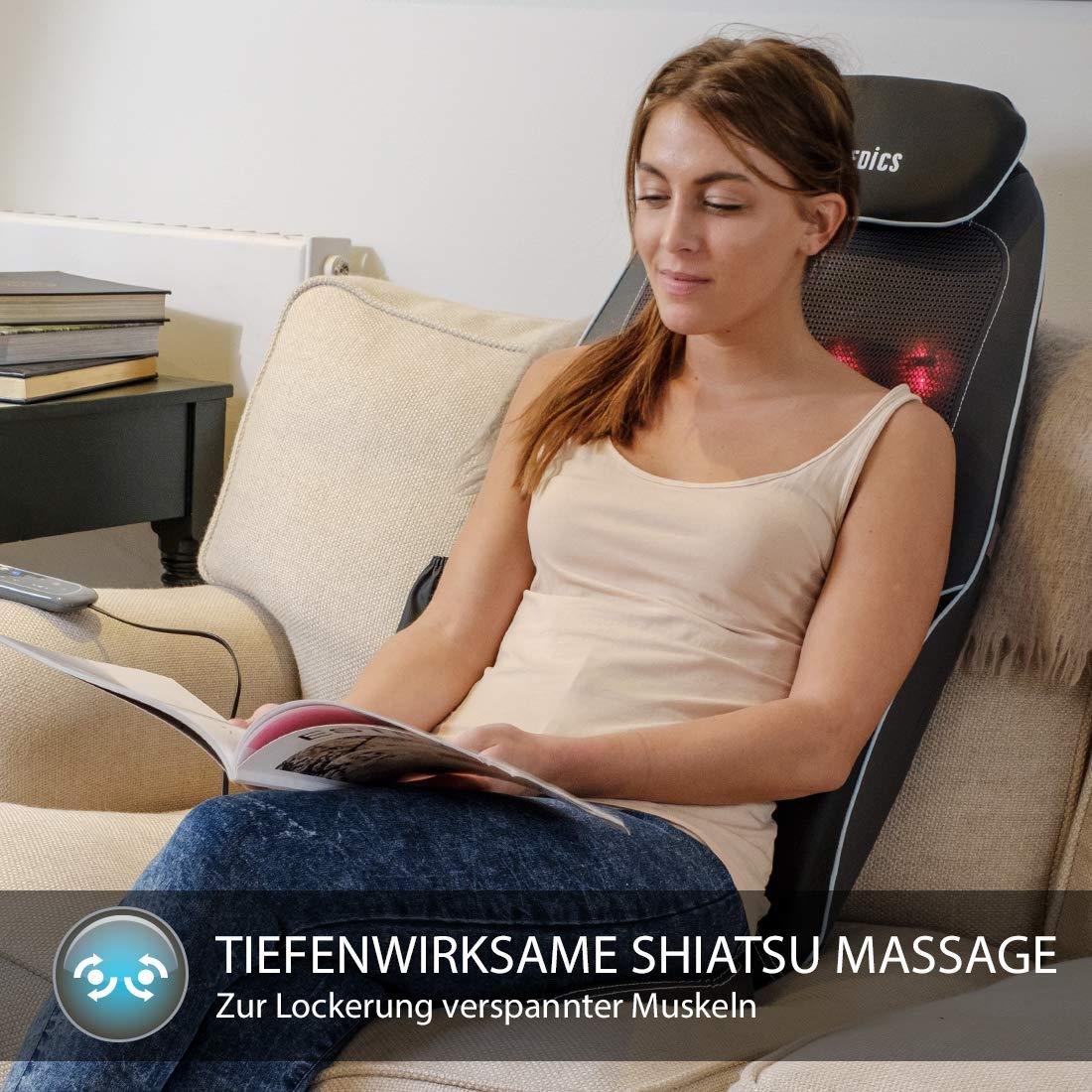 Behandlung, Wirkung und Massageumfang der HoMedics Shiatsu Max 2.0 Massageauflage