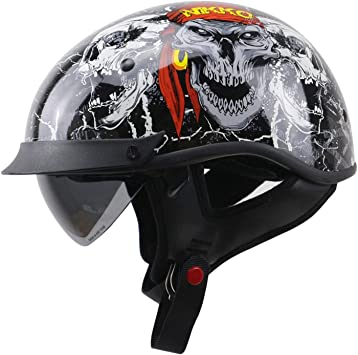 Casque moto tête de mort 1