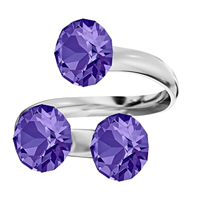 4814c4ba2 Beforya Paris *Xirius* - Ring Triple - Various Colours - with Crystals  Compatible for
