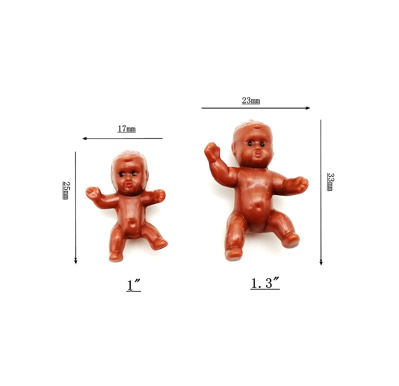 Amazon.com: 48 piezas de plástico mini africano americano ...