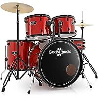 Batería de Principiantes Tamaño Completo BDK-1 de Gear4music Roja