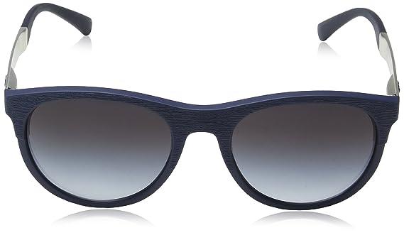 Emporio Armani Herren Sonnenbrille 0EA4084 50598G, Blau (Matte Bluee/Greygradient), 56