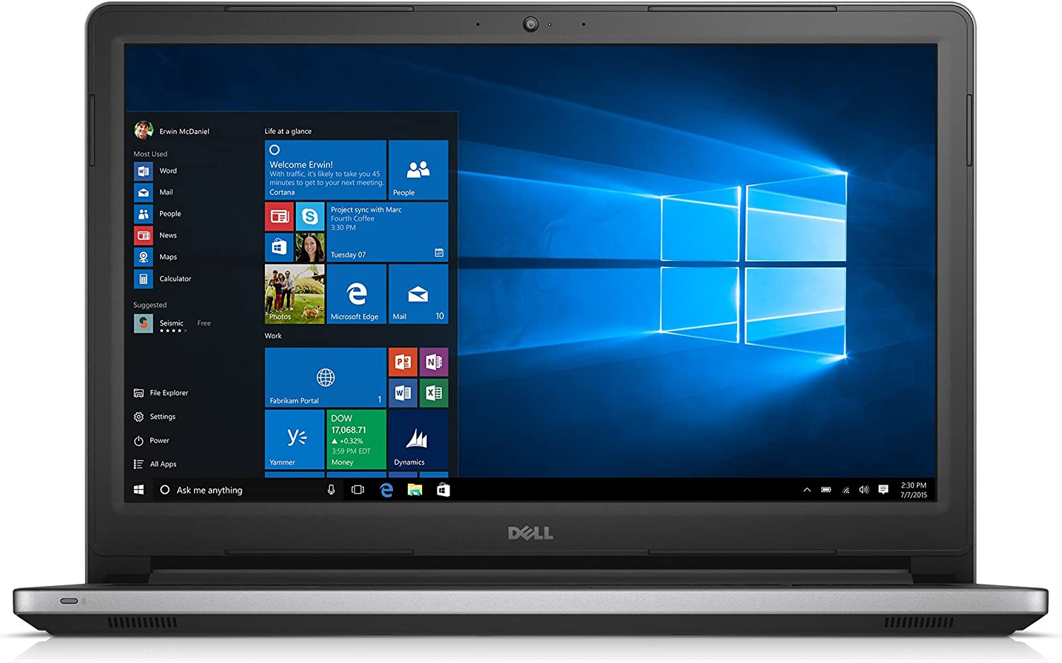 Dell Inspiron i5559-3347SLV 15.6 Inch Laptop (Intel Core i5, 8 GB RAM, 1 TB HDD, Silver Matte)