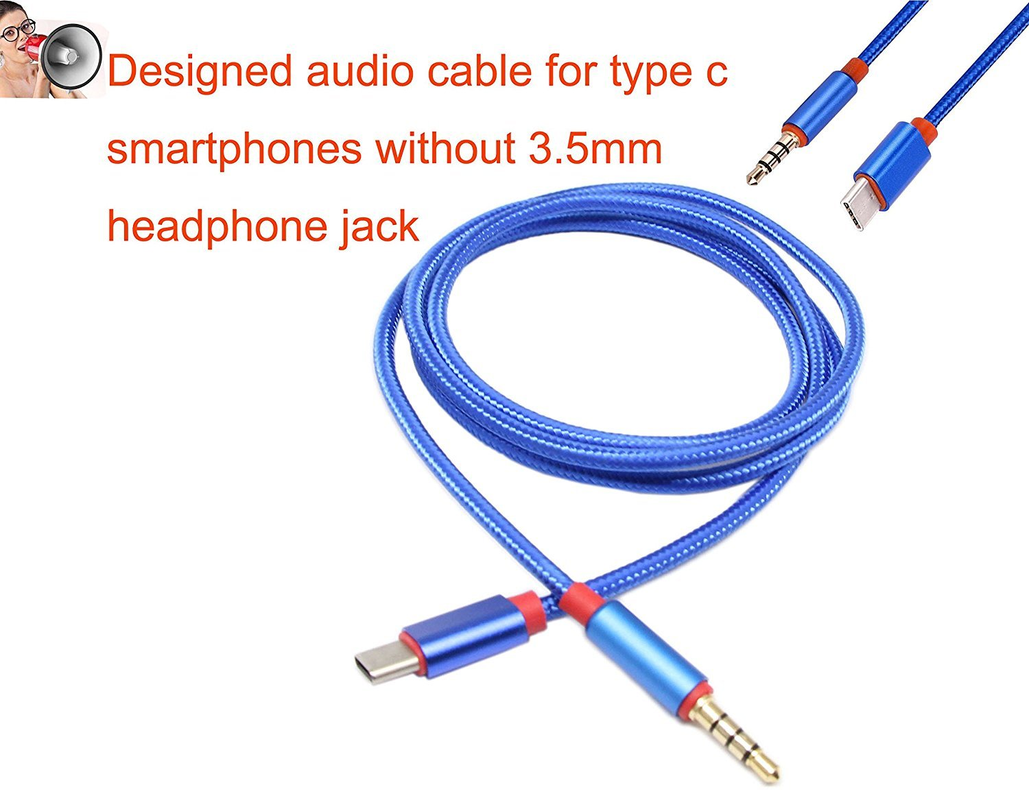 Type C To 35mm Audio Aux Cablewpeng Male Usb 3 5mm Headphone Jack Wiring Cablegold Plated Stereo 4 Pole Weave Nylon Speaker Cable Specialty For