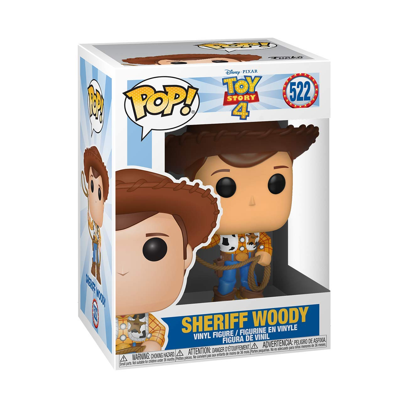 Funko- Pop Vinilo: Disney: Toy Story 4: Woody Figura Coleccionable, Multicolor (37383)