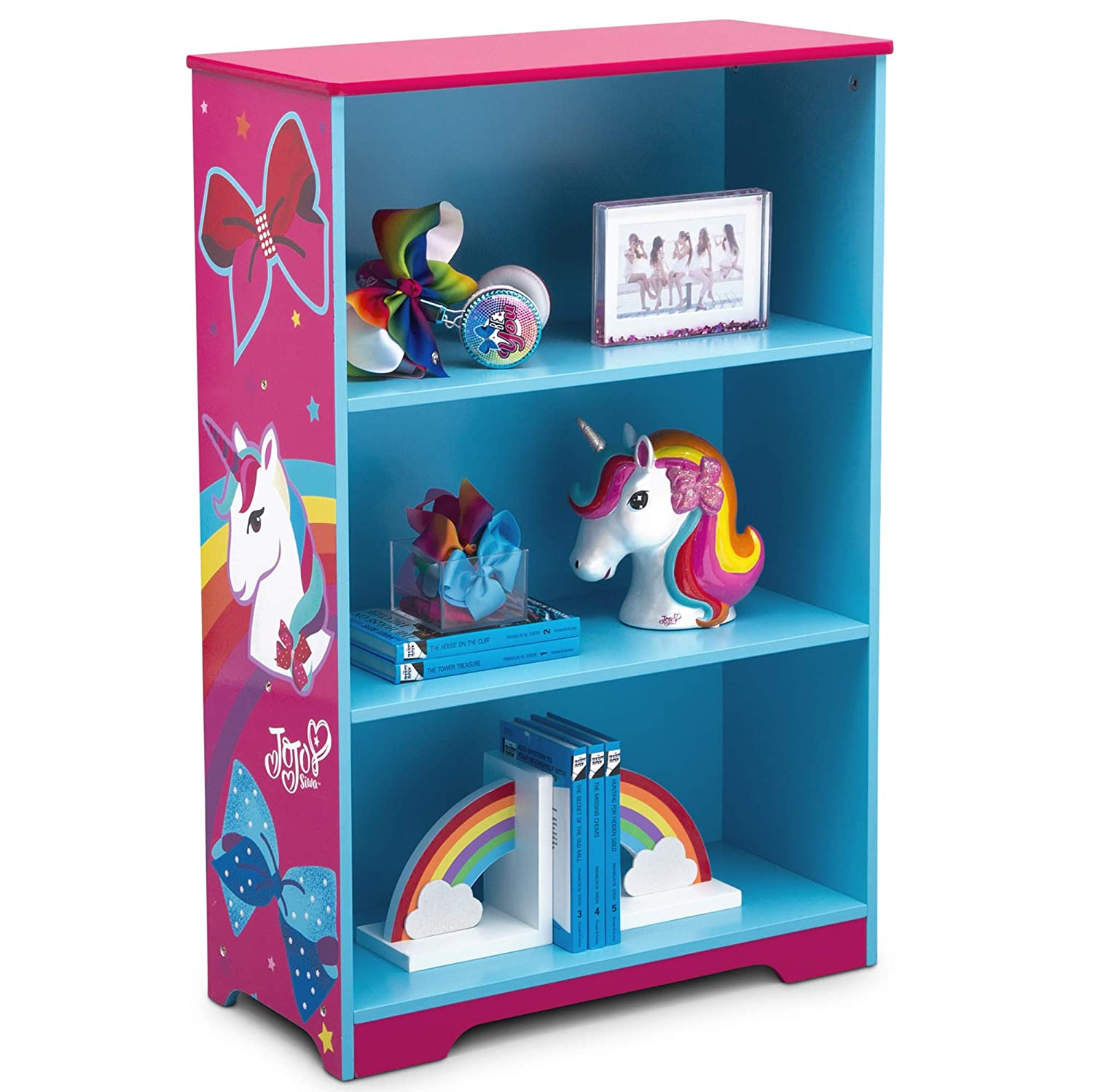 Delta Children Deluxe 3 Shelf Bookcase, JoJo Siwa