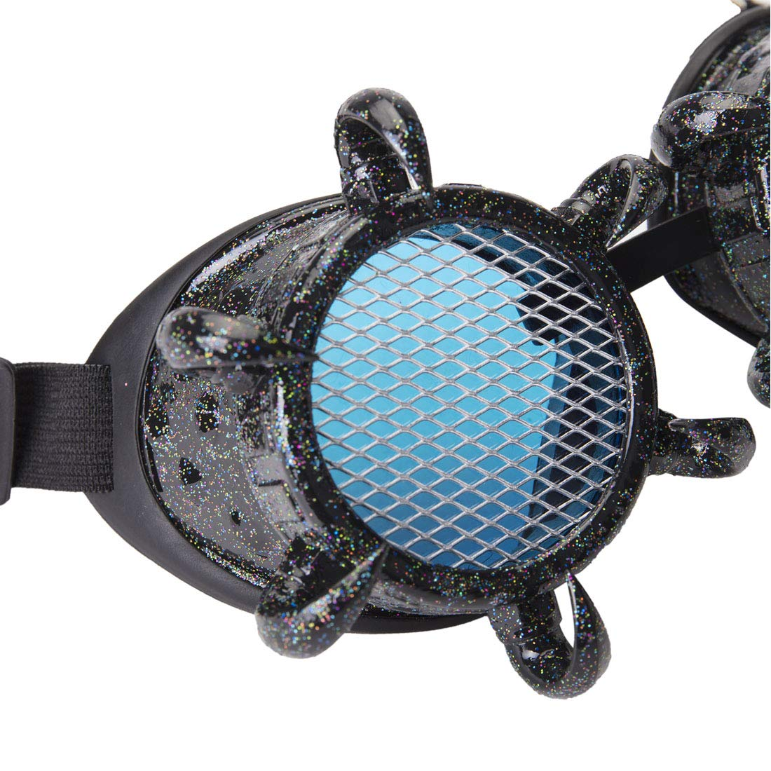 Steampunk Vintage Retro Welding Cyber Goggles Glasses Eyewear with Barbed Wire