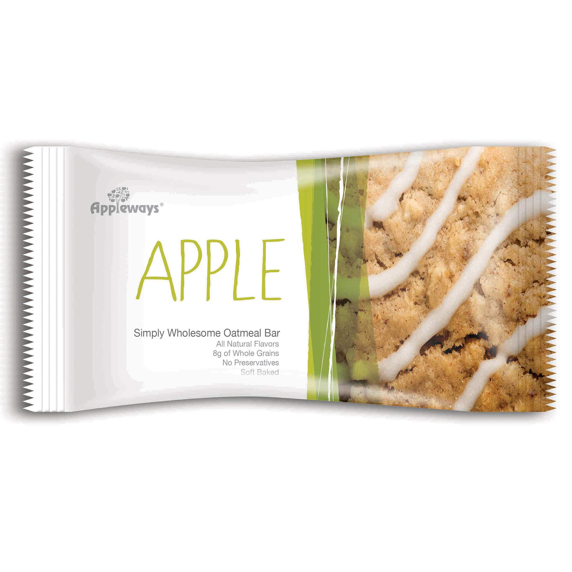 Appleways 2.4oz Simply Wholesome Oatmeal Bars, Apple, 160ct