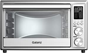 Galanz GTH12A09S2EWAC18 25L Digital Fry Air Fryer Toaster Oven, Stainless Steel