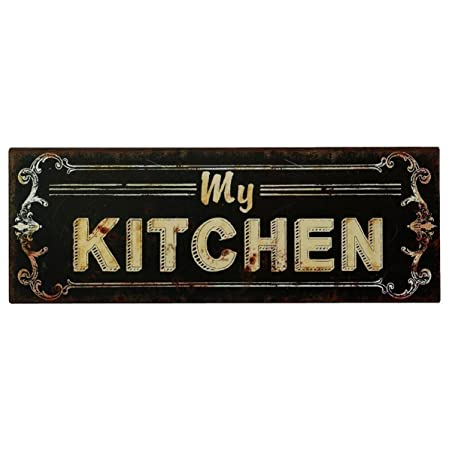 Cartel de chapa Placa Decorativa, My Kitchen Cocina Vintage ...