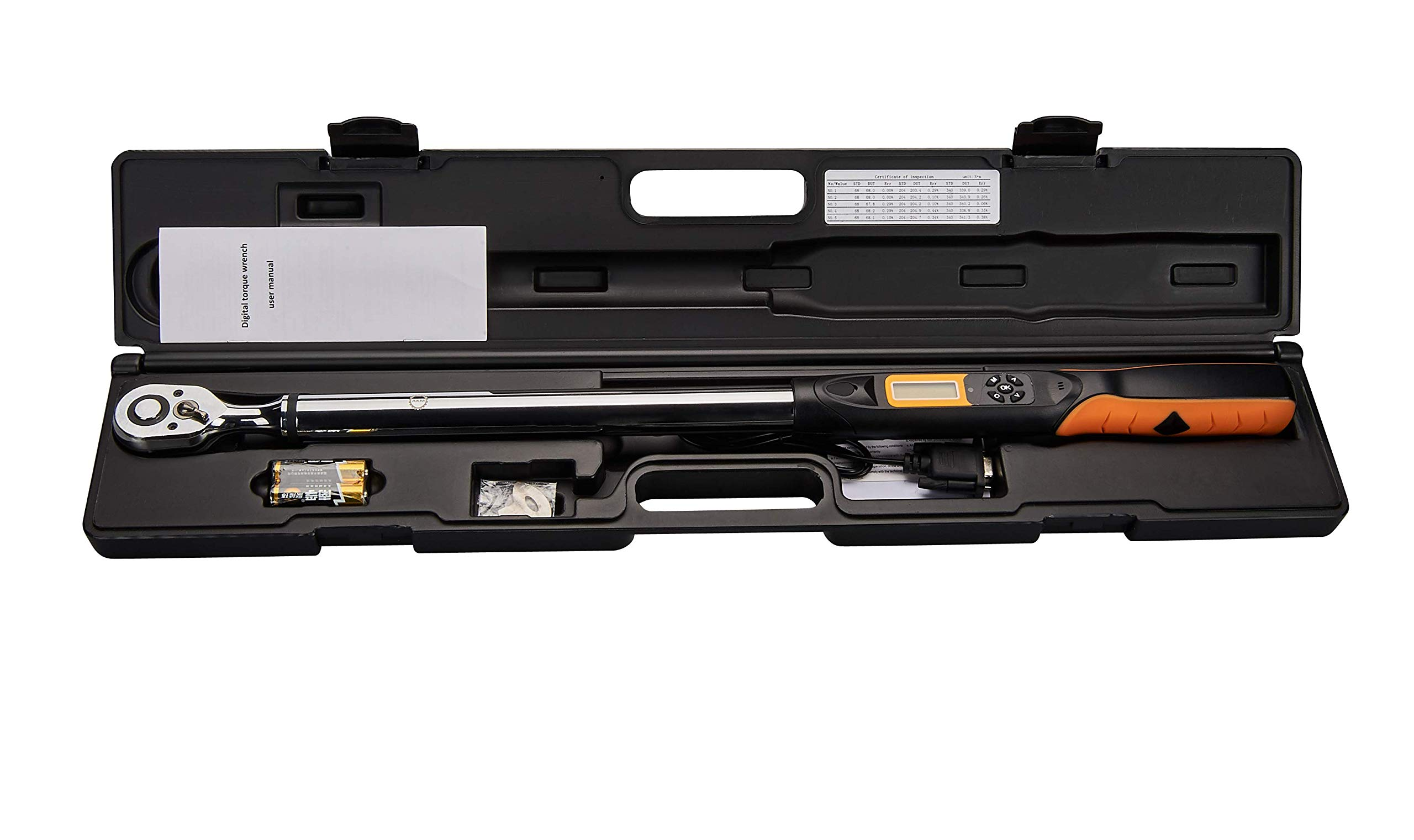 Digital Torque Wrench,AKM 1/2 Inch Drive 72-tooth 12.5-250Ft.Lbs/17-340N.m Accurate To 2% Clockwise & 2.5% Counterclockwise (2019 New Gen) by AKM (Image #1)