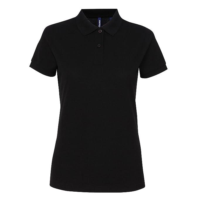 023554505 Asquith & Fox Womens/Ladies Short Sleeve Performance Blend Polo Shirt (XS) (