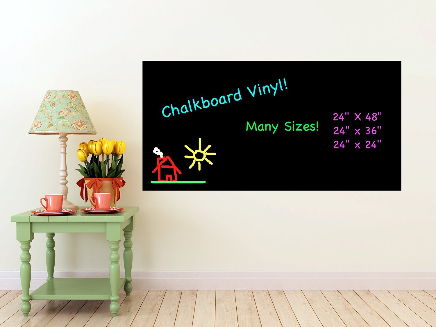 Chalkboard Wall Part - 30: Buy Tiny Deal 200 X 45Cm Waterproof Chalkboard Removable Vinyl Wall Sticker  Decal With 5 Pcs Online At Low Prices In India - Amazon.in