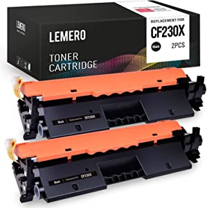 LEMERO Compatible Toner Cartridge Replacement for HP 30X 30A CF230X CF230A for Laserjet Pro M203dw Laserjet Pro MFP M227fdw M227fdn (Black, 2-Pack)
