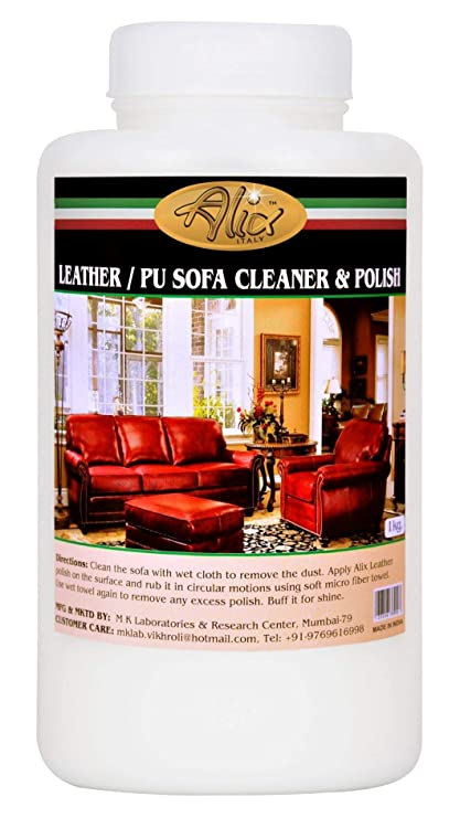 Alix Leather Sofa Cleaner & Polish (1000ml) cleans most stains and bring  new look & shine to Leather sofa