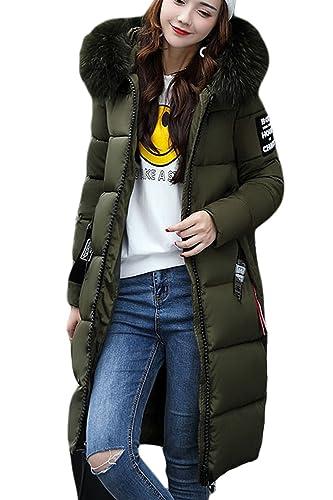 La Mujer De Invierno De Lana Con Capucha Larga Casual Faux Fur Lined Parkas Outercoats Outerwear