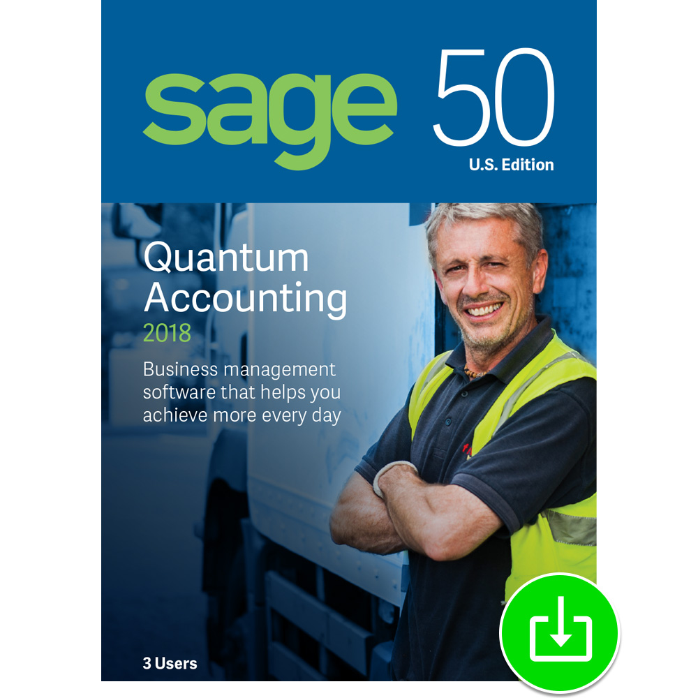 Sage 50 Quantum Accounting 2018 U.S. 3-User [Download] by Sage Software